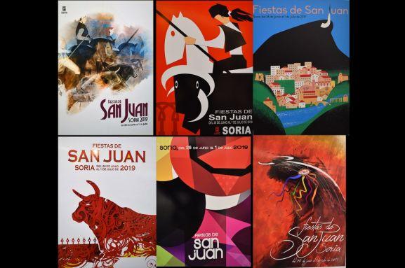 Los seis carteles finalistas.