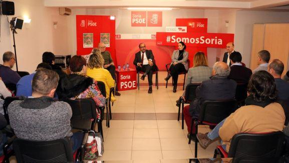 Una imagen del acto en la sede de los socialistas sorianos. /PSOE