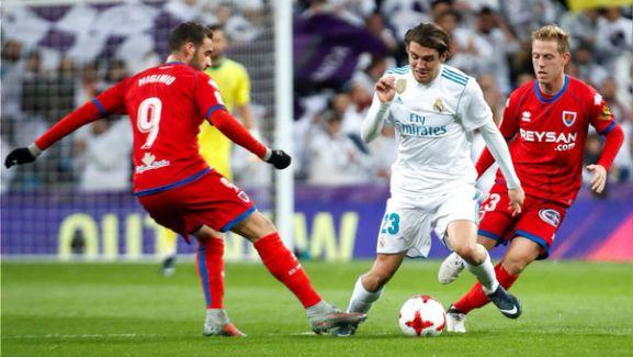 Vuelta de los octavos de final en el Santiago Bernabéu entre el Real Madrid y el Numancia. EFE