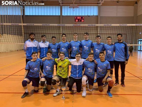 Equipo Juvenil del Río Duero en el Regional que ha acogido Soria este año. SN