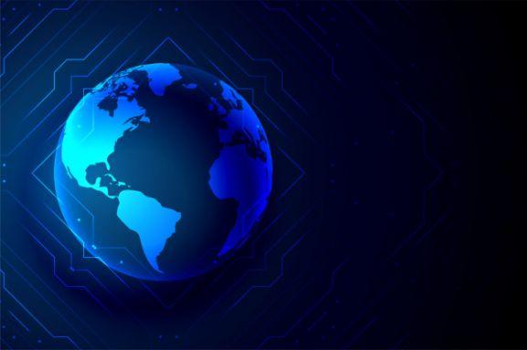 Imagen caricaturizada del planeta tierra.