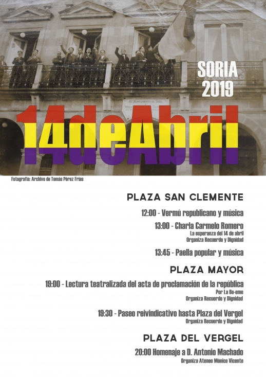 Foto 1 - Recuerdo y Dignidad tiene listos los actos-homenaje del 14 de abril por la Segunda República