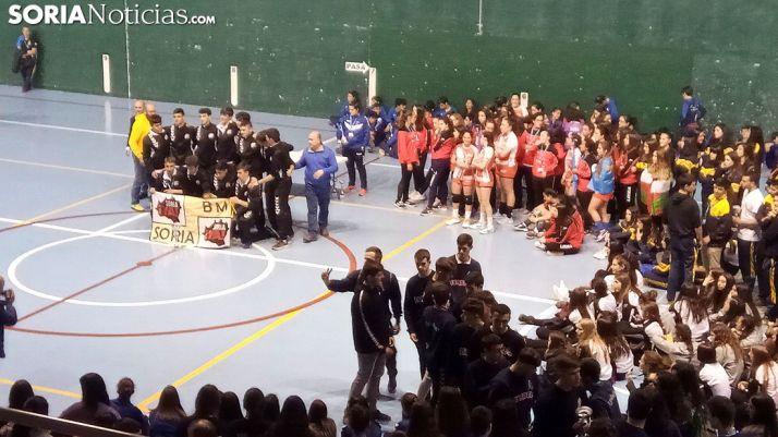 Una imagen de la entrega de trofeos en Ágreda. /SN