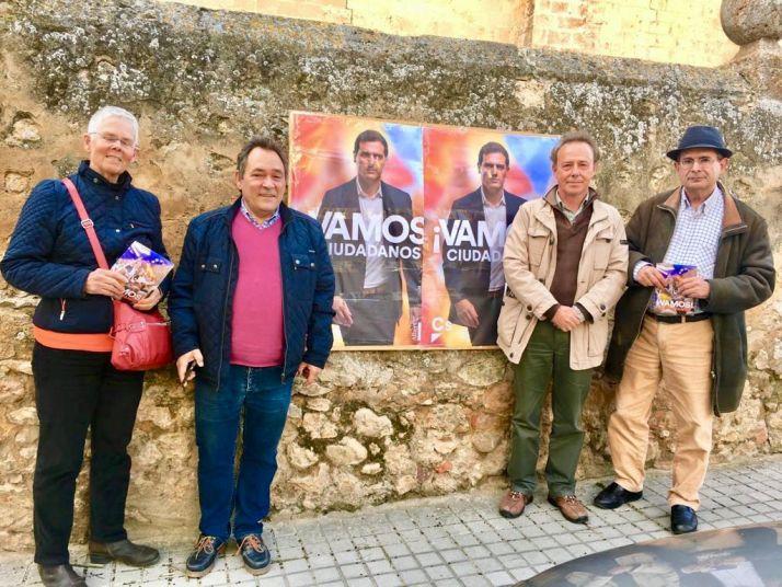 Acto de Saturnino de Grefgorio, candidato de C's en Soria, en la capital soriana. Ciudadanos