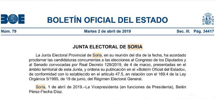 Foto 1 - Diez formaciones para el Congreso y nueve para el Senado concurren en Soria para el 28-A