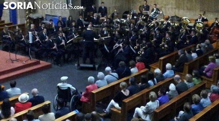 Uno de los conciertos de la Banda en el templo de El Salvador. /SN