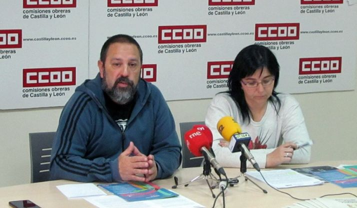 Javier Moreno y Mayte Yagüe. /CCOO Soria