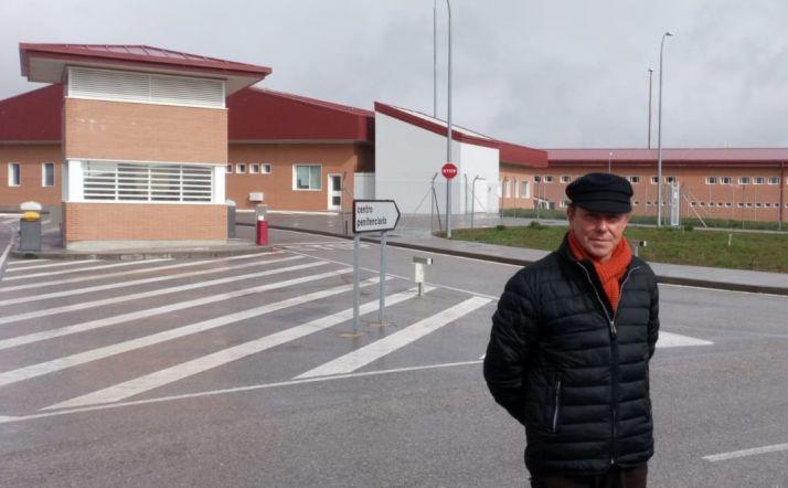 José Boces en el nuevo centro penitenciario de Soria.