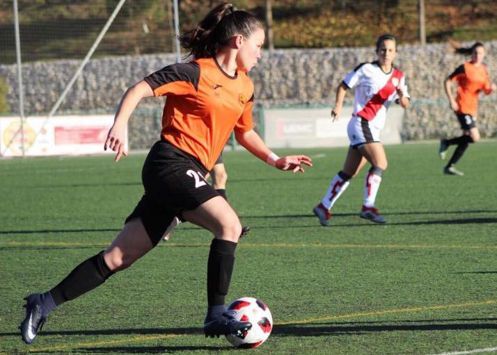 Marta Charle, ante el Rayo Vallecano. /Cedida por la jugadora
