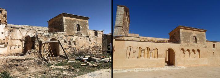 El antes y el después del templo. /SN