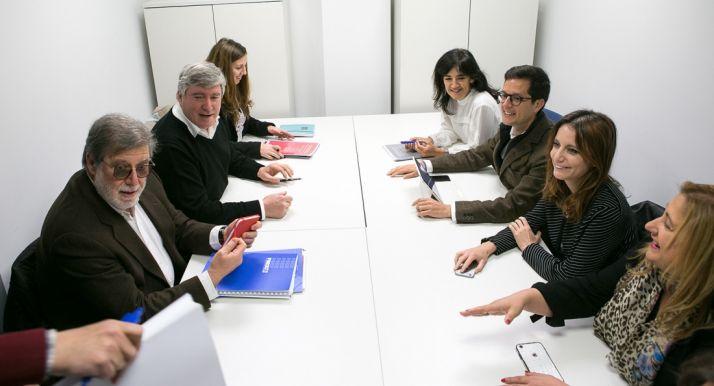 Una imagen de la reunión este miércoles. /FOES