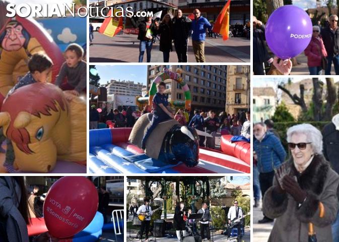 GALERÍA: Música, hinchables, globos y caramelos para esperar a la Jornada de Reflexión