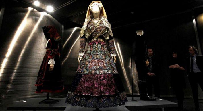 Una de las piezas expuestas en Morón de Almazán.