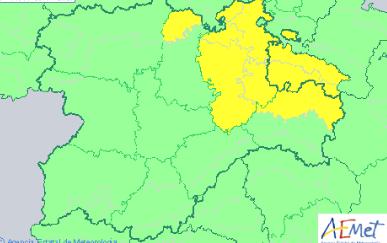 Aviso amarillo por lluvias y tormentas para el Lunes Santo en Soria