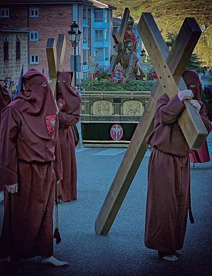 Procesiones del Vía Crucis de las Caídas de Jesús y del Silencio de la Virgen de la Soledad, en Soria este Jueves Santo