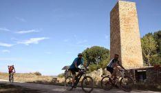 Imagen de la prueba '7 muros' de Pozalmuro, a su paso por Masegoso.
