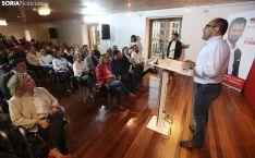 Una imagen de la visita de Luis Tudanca a Soria este jueves. /SN
