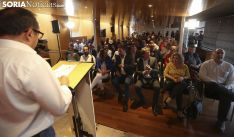 Una imagen del ministro en su visita a Soria esta tarde. /SN