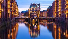 Área Speicherstadt en la ciudad alemana de Hamburgo.