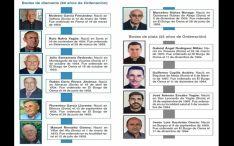 Los sacerdotes que hoy reciben el homenaje diocesano. /DOS