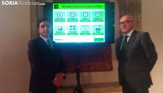 Carlos Martínez y Domingo Barca, tras dar cuenta de los resultados. /SN