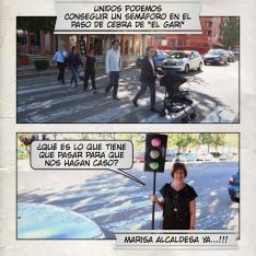 El cómic sobre la necesidad de un semáforo en la avenida de Valladolid.