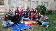 Alumnos del IES ganadores del concurso nacional Euroscola en inglés 'Estrasburgo nos espera'.