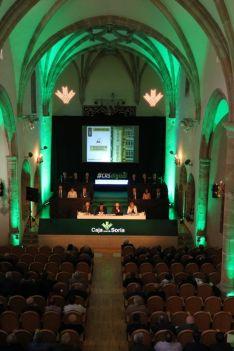 Una imagen de la asamblea de la Caja este viernes.