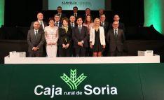 Miembros del Consejo de la Caja Rural este viernes. /SN