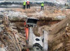 La excavadora siniestrada. /SN