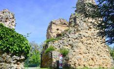 Restos de la muralla y el castillo de Soria.