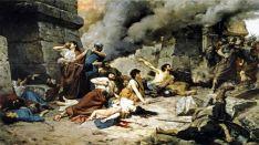 Recreación del asedio a Numancia, obra de Alejo Vera.