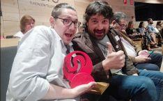 El equipo de Numanguerrix con el premio esta mañana en Madrid.