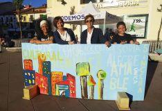 El mural elaborado este jueves en Mariano Granados. /PS