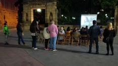 El cinefórum celebrado esta noche de martes. /PS