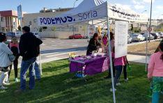 Acto electoral de Podemos Soria en Los Pajaritos. /PS