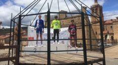 Imagen del podio ayer.