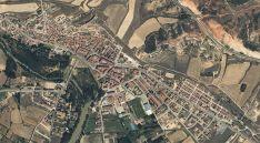 Una vista aérea de San Esteban de Gormaz.
