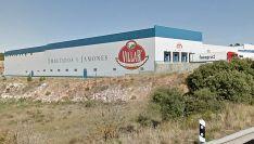 Imagen de la factoría, en la antigua N-111, dentro del término de Los Rábanos.