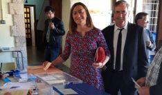 Barcones, en Berlanga antes de depositar su voto.