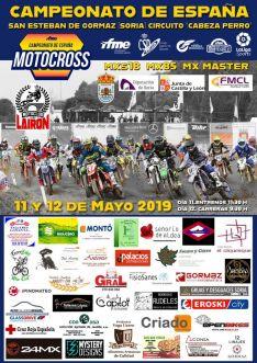Cartel del Campeonato de España de Motocross en San Esteban.