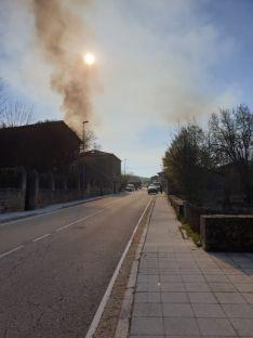 Foto del humo negro