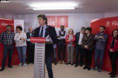 Rueda de Prensa en la Sede del PSOE. /Jasmín Malvesado