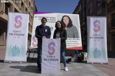 Rueda de prensa Soria Común. /Jasmín Malvesado.