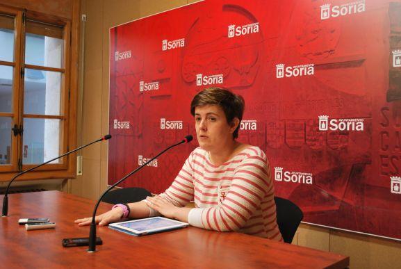 La concejala Ana Alegre durante una comparecencia en el Consistorio de Soira. SN