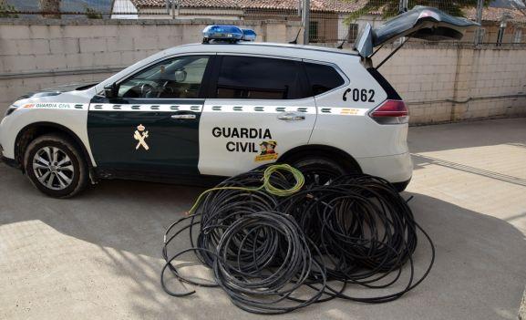 El cable que había sido sustraído. /GC