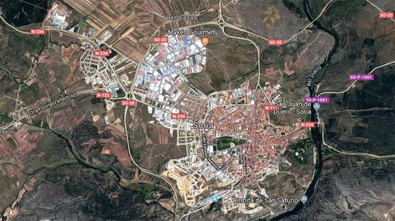 Vista satelital de la capital, según Google Maps.