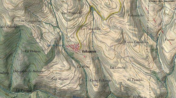 Mapa topográfico del término de Valtajeros.