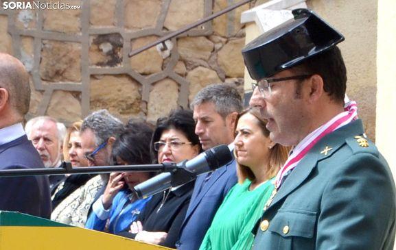 El teniente coronel Andrés Velarde durante su alocución este miércoles. /SN