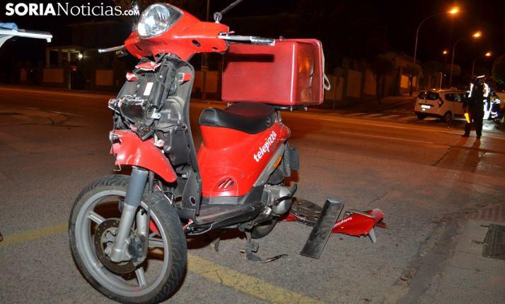 El ciclomotor tras el accidente. /SN